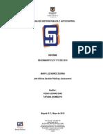 Informe Seguimiento Ley 1712 de 2014 Mayo 2015