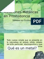 Aleaciones Metálicas en Prostodoncia