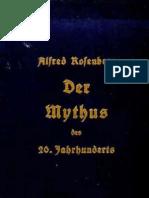 Rosenberg Alfred - Der Mythus Des 20. Jahrhunderts (34. Auflage 1934, 405 S.)