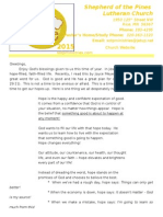 June 2015 Newsletter