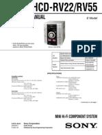 Sony Hcd-rv22,55