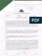 BCED - Etraits Des Minutes Du Greffe