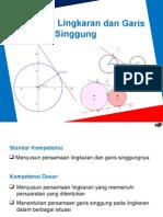 persamaan lingkar dan garis singgung