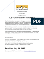Twin Cities Black Journalists Convention Scholarship