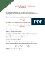 Integración Mediante Fracciones Parciales