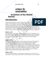 Evolution of the Mobile Market