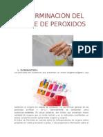 Determinacion Del Indice de Peroxidos