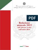 Garante Scioperi - Relazione 2015