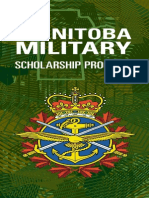 Manitoba Military Scholarship Program