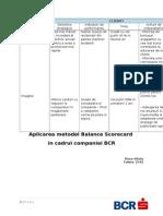 Metoda Balance Scorecard BCR