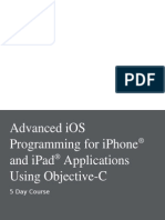 Advanced IOS Programming for iPhone and iPad Applications Using Objective-C Outline