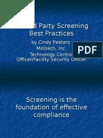 Cindy Peeters DPS Presentation 111004