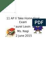 11 ap ii take home final exam