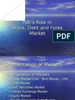 Role of RBI in Stock, Debt and Forex Market