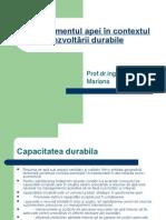 Curs 8 Managementul Apei În Contextul Dezvoltării Durabile
