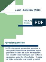 Curs 7 Analiza Cost Beneficiu ACB