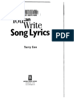 Terry Cox - You Can Write Lyrics
