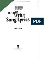 Terry Cox - You Can Write Lyrics