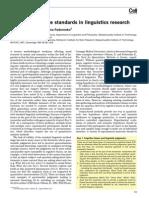 Weak Quantitative Standards in Linguistics Research