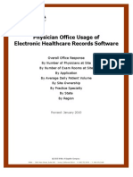 Physician Office Usage of Electronic Healthcare Records Software