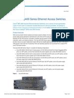 Cisco ME3400 Datasheet