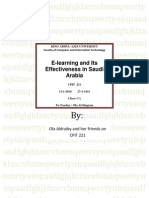 E-Learning and Its Effectiveness in Saudi Arabia