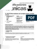 S 102-87 Obras Medianas de Hormigón Simple Y Armado [ICH – Especificaciones Técnicas]