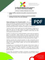 """15-07-2011 Entrega alcaldesa Elízabeth Morales García apoyos a damnificados por """"Arlene"""" en la Colonia Hidalgo. C404"""