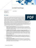 IDC Embracing Enterprise Hybrid Cloud Storage White Paper