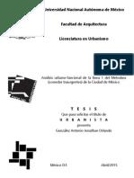 Análisis urbano-funcional de la línea 1 del Metrobús (corredor Insurgentes) de la Ciudad de México