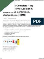 Capacitores Cerámicos, Electrolíticos y SMD » Electrónica Completa