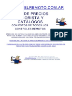 Catalogo Controles Remotos Lcd Led Plasma Dvd Deco Audio Video Aire El Rey Del Remoto