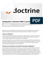 Integrando o Doctrine ORM e Laravel 5 [Parte-1] _ Buteco Open Source