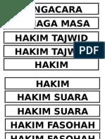 Label Tilawah Hakim Hakim