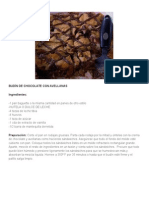 Budín de Chocolate Con Avellanas
