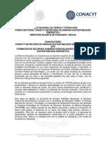 Conacyt-sener Sustentabilidad 2015