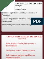 Unidade VI PONTO DE EQUILÍBRIO E ALAVANCAGEM