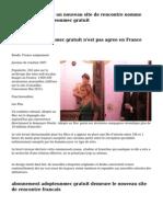 La france accueille un nouveau site de rencontre nomme abonnement adopteunmec gratuit