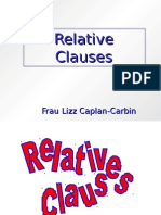 German - Relative Clauses