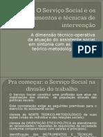 O Servico Social e Os Instrumentos e Tecnicas 1
