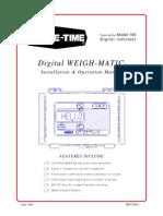 Model 100 Digital WEIGH-MATIC® Scales