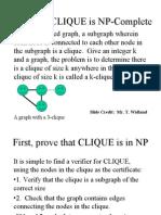 Clique Npc Proof