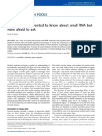 Physiology-Everything You Wanted to Know About Small RNA but Were Afraid to Ask