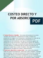 Costeo Directo y Por Absorcion