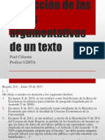 Extracción de Las Redes Argumentativas de Un Texto