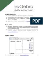 Geogebra Quickstart en Desktop
