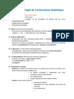 Acidocétose diabétique - physiopathologie