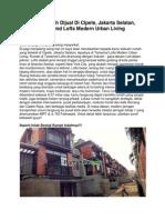 Iklan Rumah Dijual Di Cipete, Jakarta Selatan, Tamarind Lofts Modern Urban Living