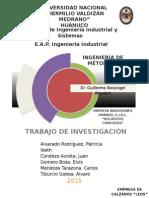 Trabajo de Investigación Ingeniería de Métodos I