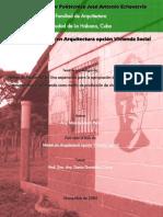 Modelo de vivienda cooperativa por autogestión y ayuda mutua alternativa rural